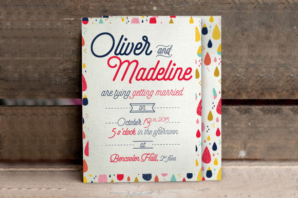 Fun Pattern Wedding Invitation by KlapauciusCo is available from CreativeMarket for $10.