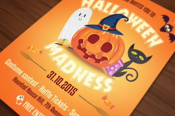 Halloween Flyer Cards Illustrations by UXburn is available from CreativeMarket for $10.