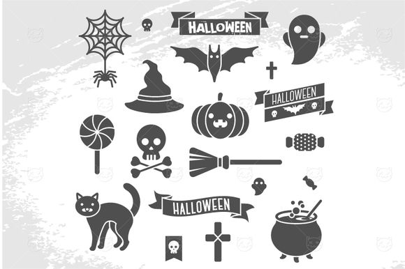 Halloween Icons by Kotoffei is available from CreativeMarket for $5.