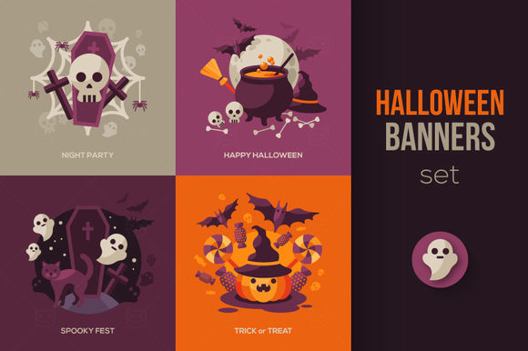 Halloween Set by Kotoffei is available from CreativeMarket for $7.
