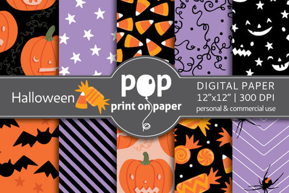 Halloween by POPprintonpaper is available from CreativeMarket for $5.