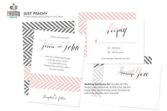 Just Peachy by ThumbCreative is available from CreativeMarket for $10.