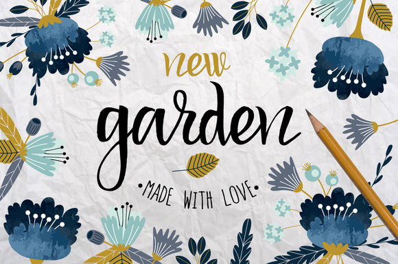 New Garden by Lokkostudio is available from CreativeMarket for $6.