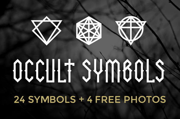 Occult Symbols Plus  Free Photos by BlackLabel is available from CreativeMarket for $10.