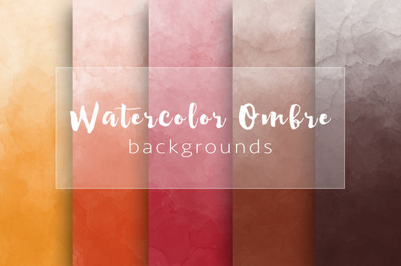 Ombre Watercolor Autumn Backgrounds by MariaDM is available from CreativeMarket for $7.