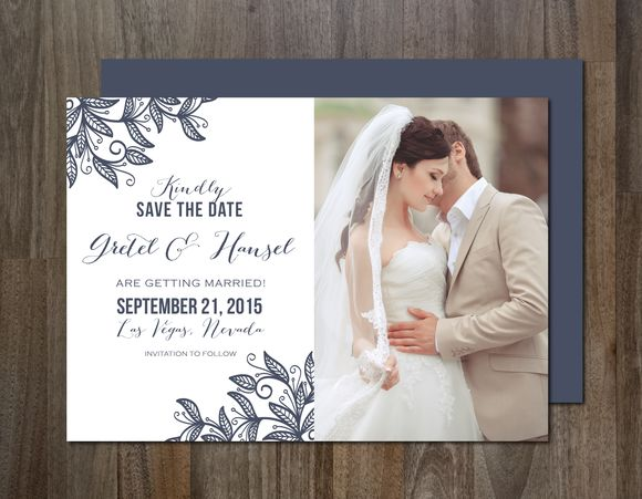 Photo Save The Date Invitation by Aticnomar is available from CreativeMarket for $6.