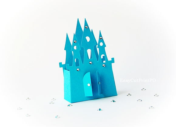 Princess Frozen Castle Box Template by Pdeasyprint is available from CreativeMarket for $6.