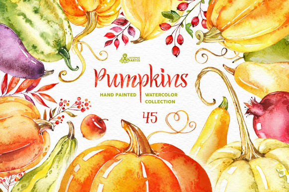 Pumpkins by OctopusArtis is available from CreativeMarket for $17.