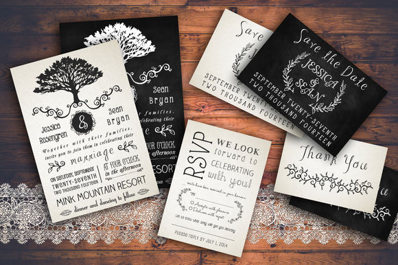 Rustic Wedding Invitation Pack by KnottedDesign is available from CreativeMarket for $15.