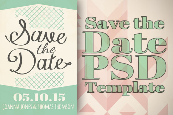 Save The Date Template by Tbarkley is available from CreativeMarket for $5.