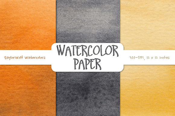 Spooky Watercolor Digital Paper by SaylorWolfWatercolors is available from CreativeMarket for $3.