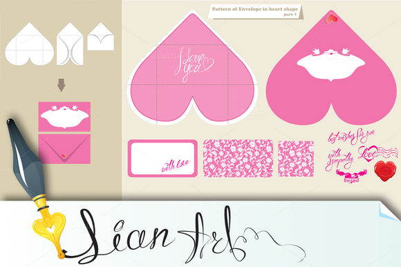 Template And Scheme Of Envelope by Lian-art is available from CreativeMarket for $4.