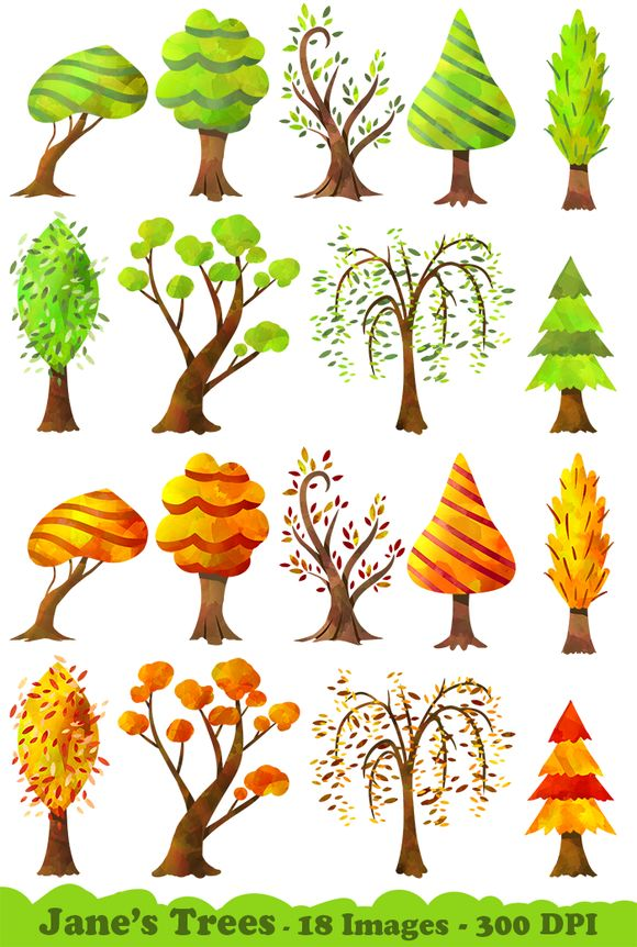 Trees Clipart by DigitalArtsi is available from CreativeMarket for $5.