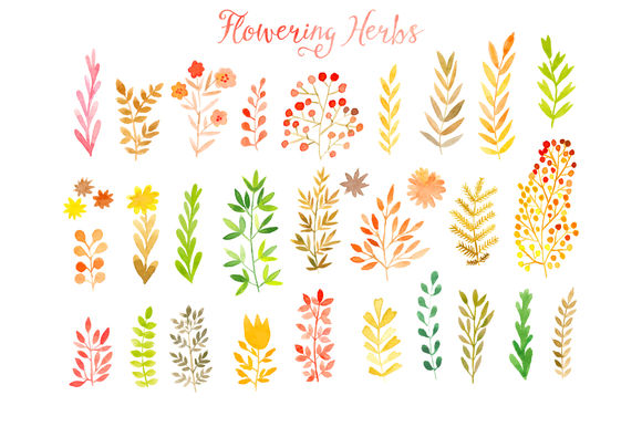 Vector Watercolor Leaf Set by Markovka is available from CreativeMarket for $4.