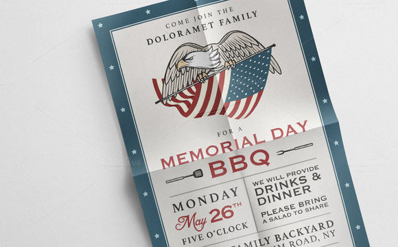 Vintage Memorial Day Invitation by 1baranov is available from CreativeMarket for $5.