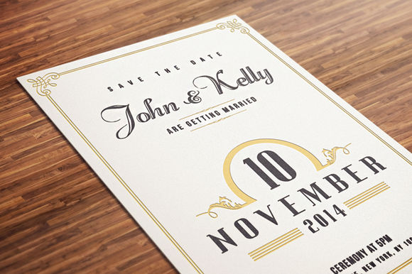 Vintage Wedding Invitation Postcard by DesignDistrict is available from CreativeMarket for $10.