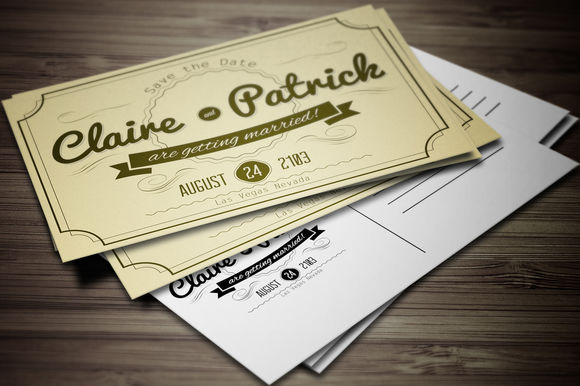 Vintage Wedding Invitation Vol by GraphicBoutique is available from CreativeMarket for $5.