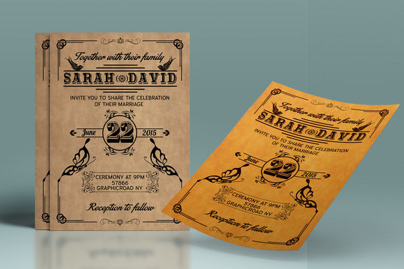 Vintage Wedding Stationery Set by ArysDesign is available from CreativeMarket for $6.