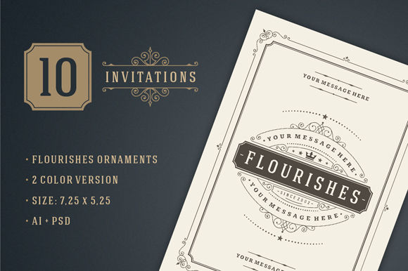 Vintage Invitations Volume by VasyaKobelev is available from CreativeMarket for $12.