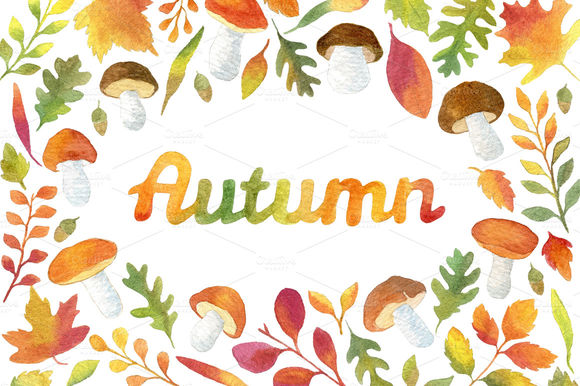 Watercolor Autumn Leaves Frames by HelgaWigandt is available from CreativeMarket for $6.