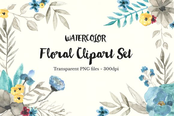 Watercolor Floral Clipart Set by TheAutumnRabbit is available from CreativeMarket for $15.