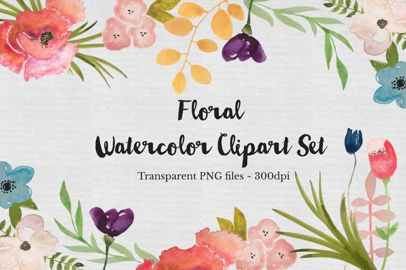 Watercolor Flower Clipart Set by TheAutumnRabbit is available from CreativeMarket for $15.