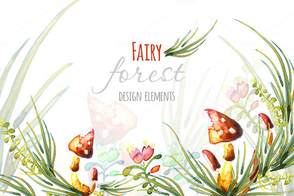 Watercolor Fairy Forest Elements by OKSAP is available from CreativeMarket for $3.