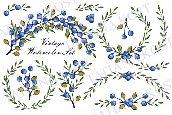Watercolor Set by TatianaKostdesign is available from CreativeMarket for $6.