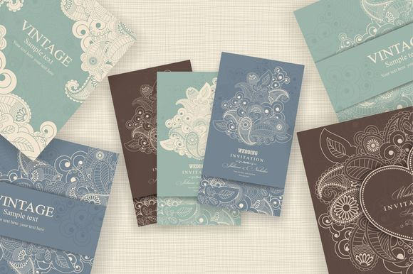 Wedding Invitation Set by NataLito is available from CreativeMarket for $10.