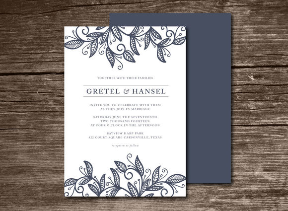 Wedding Invitation by Aticnomar is available from CreativeMarket for $6.