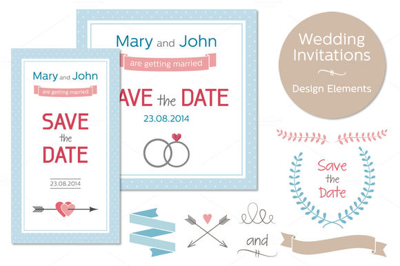 Wedding Invitations by PaperCards is available from CreativeMarket for $8.