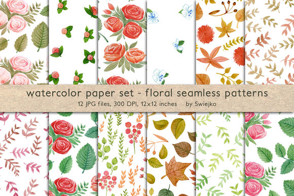 Floral Seamless Pattern by Swiejko is available from CreativeMarket for $6.