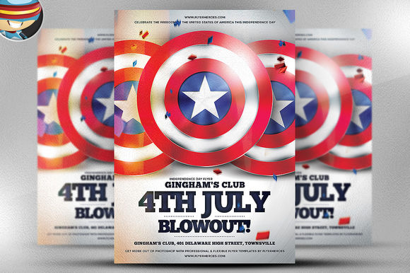 4th July Blowout Flyer Template by FlyerHeroes is available from CreativeMarket for $9.