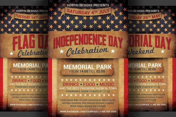 4th July by Hotpin is available from CreativeMarket for $7.