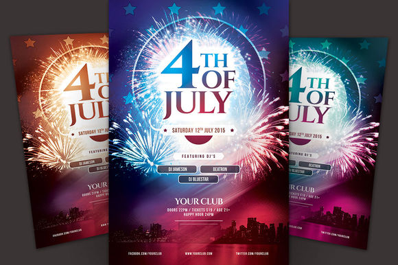 4th Of July Flyer by StyleWish is available from CreativeMarket for $9.
