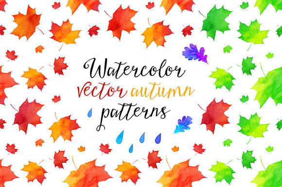 Vector Watercolor Autumn Patterns by Art-of-Sun is available from CreativeMarket for $8.