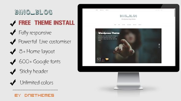 Bino by Dnbthemes is a great new WordPress theme which features Retina display support, parallax elements, support for RTL languages, fully responsive layouts, Google Fonts support and Bootstrap framework utilization.
