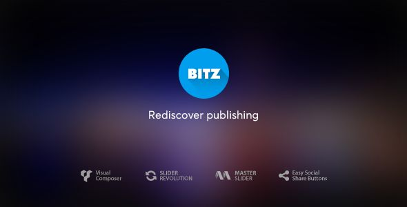 Bitz by MNKY is a news magazine WordPress theme which features Retina display support, support for RTL languages, Mega Menu, fully responsive layouts, search engine optimization, Google Fonts support, Revolution Slider, WooCommerce integration, clean design and magazine style layouts.