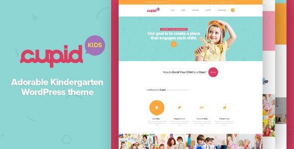CUPID by G5Theme is a educational WordPress theme which features parallax elements, fully responsive layouts, search engine optimization, Revolution Slider, WooCommerce integration and Bootstrap framework utilization.