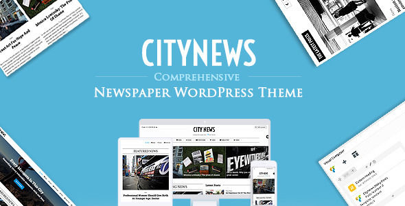 CityNews by ThemeVan is a news magazine WordPress theme which features Retina display support, Mega Menu, fully responsive layouts, Revolution Slider, clean design, magazine style layouts and minimal design.
