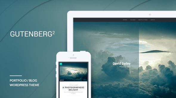 Gutenberg WordPress Theme by Cr3ativ is a great new WordPress theme which features support for RTL languages, one page layouts, fully responsive layouts, search engine optimization, clean design, support for photo galleries, can be used for your portfolio, flat design aesthetics and minimal design.