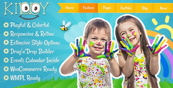 Kiddy by CreativeWS is a educational WordPress theme which features Retina display support, support for RTL languages, fully responsive layouts, search engine optimization, Google Fonts support, Revolution Slider, WooCommerce integration, Colorful and flat design aesthetics.