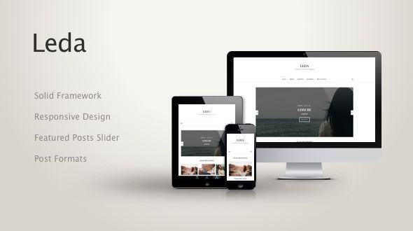 Leda by Roy Guan is a great new WordPress theme which features fully responsive layouts, search engine optimization, clean design, a grid layout and minimal design.