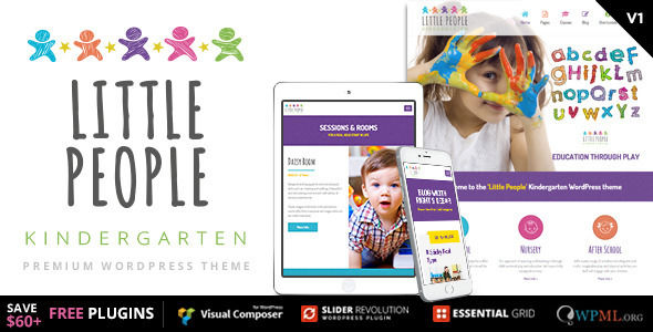 Little People by CMSSuperHeroes is a educational WordPress theme which features parallax elements, support for RTL languages, fully responsive layouts, search engine optimization, Bootstrap framework utilization, can be used for your portfolio and a grid layout.