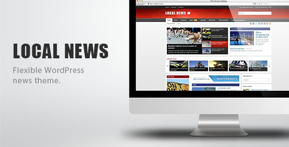 Local News by MNKY is a news magazine WordPress theme which features Retina display support, support for RTL languages, fully responsive layouts, search engine optimization, Google Fonts support and blogging related layouts and optimizations.