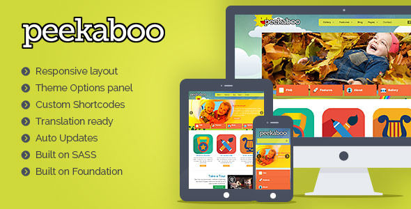 Pekaboo For WordPress by Population2 is a educational WordPress theme which features support for RTL languages, fully responsive layouts, Google Fonts support, WooCommerce integration, clean design, Colorful and a grid layout.