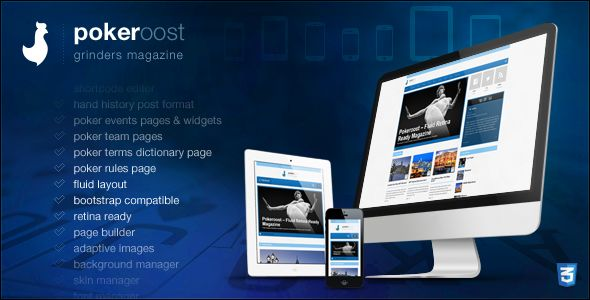 PokeRoost by Sinote is a news magazine WordPress theme which features Retina display support, one page layouts, fully responsive layouts, Google Fonts support, Revolution Slider, Bootstrap framework utilization, can be used for your portfolio, magazine style layouts, corporate style visuals and a grid layout.