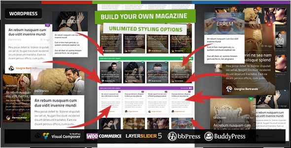 Quadrum by Orange-themes is a news magazine WordPress theme which features support for RTL languages, Mega Menu, one page layouts, fully responsive layouts, search engine optimization, Google Fonts support, Revolution Slider, WooCommerce integration, clean design, magazine style layouts, blogging related layouts and optimizations and minimal design.