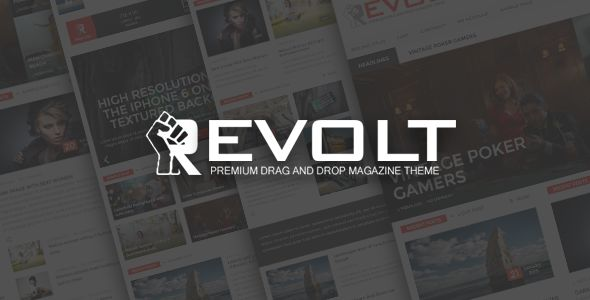 Revolt by Wpsmart is a news magazine WordPress theme which features support for RTL languages, fully responsive layouts, search engine optimization, Revolution Slider, WooCommerce integration, clean design, magazine style layouts and a grid layout.