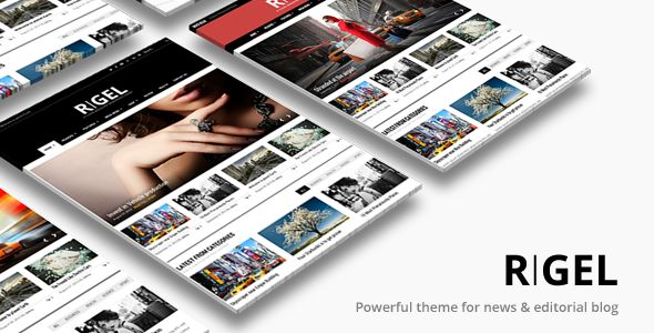 Rigel Responsive Magazine Newspaper Theme by ThemeGoods is a news magazine WordPress theme which features Retina display support, parallax elements, support for RTL languages, fully responsive layouts, search engine optimization, Google Fonts support, Revolution Slider, WooCommerce integration, clean design, magazine style layouts and minimal design.